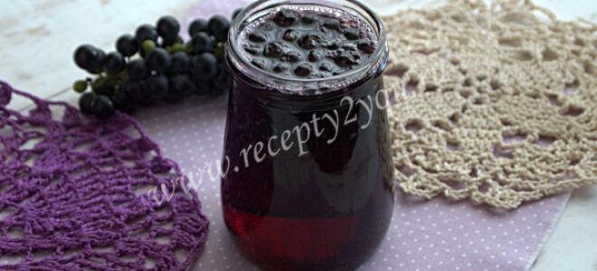 Варенье из винограда с косточками на зиму в домашних условиях