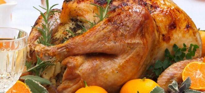 Курица с фруктами в духовке