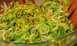 Салат из брюсельской капусты с сыром