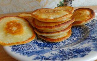 Вкусные оладьи на кефире без дрожжей