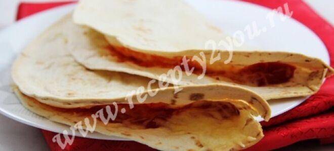 Тортилья — мексиканская лепешка