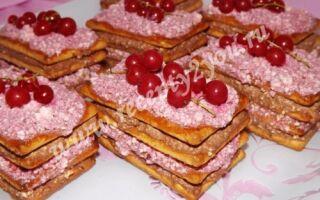 Пирожные из печенья без выпечки