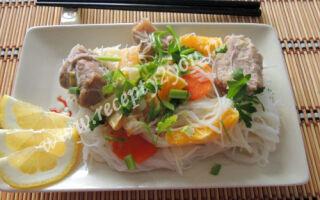 Рисовая лапша с мясом