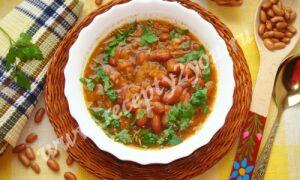 Суп с красной фасолью без мяса