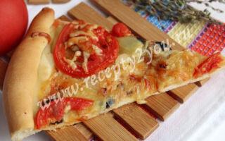 Овощная пицца на тонком тесте