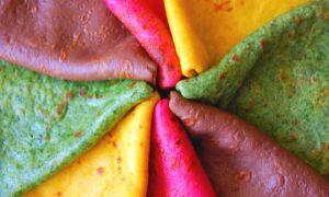 Как сделать цветные блины
