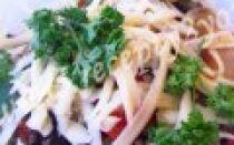 Салат из баклажанов и фасоли