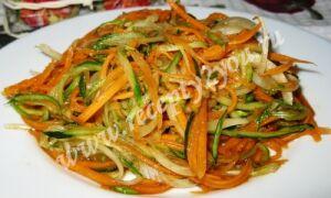 Морковь с огурцом по-корейски