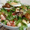 Салат с грибами на Новый год