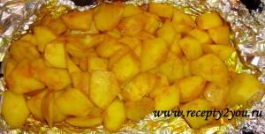 картофель с куркумой