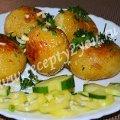 Молодой картофель с чесноком запеченный в духовке