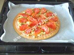 Пицца с копченой колбасой фото 6