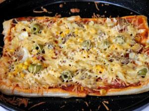 пицца на готовом слоеном тесте фото 9