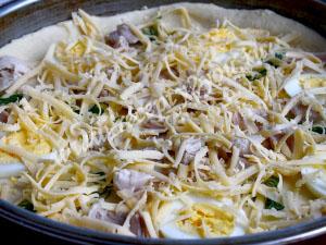 Пицца с яйцом и сыром фото 13