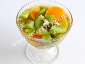 фрукты в чайном желе фото 6