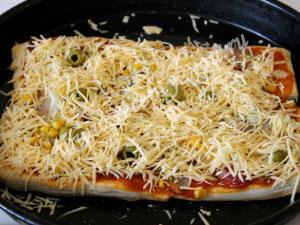 пицца на готовом слоеном тесте фото 8