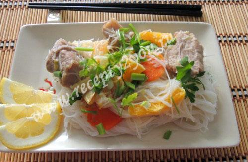 Как приготовить рисовую лапшу. Рисовая лапша с мясом
