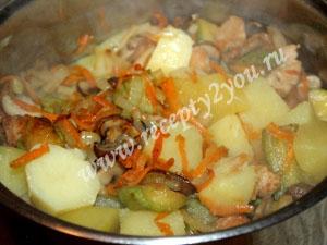овощное рагу с мясом и грибами фото 10