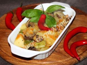 овощное рагу с мясом и грибами фото 11