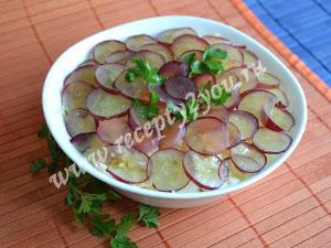 Салат с курицей и виноградом. Рецепт с фото 11