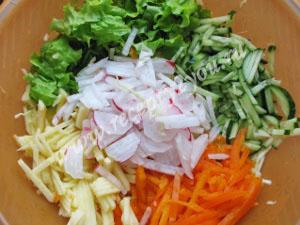 салат витаминный с капустой фото 2