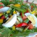 Салат из свежих овощей зимой