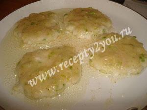 Оладьи из куриных грудок с кабачком. Рецепт с фото 9