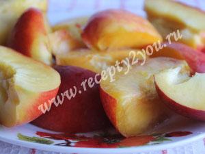 Тертый пирог с персиками фото 7