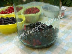 Компот из малины и смородины на зиму фото 3