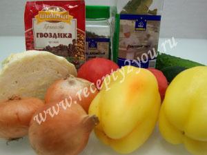 Салат из капусты помидоров и огурцов на зиму фото 1