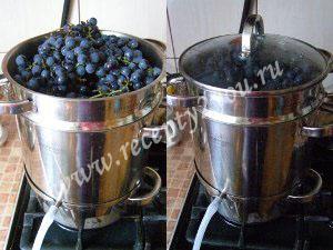 Виноградный сок на зиму. Рецепт в соковарке фото 4