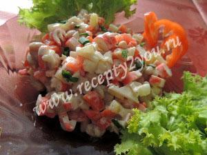 Салат с крабовыми палочками и болгарским перцем фото 6