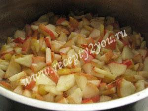 Заготовка из яблок для пирогов на зиму фото 4