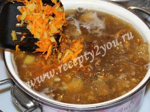 Суп из сушеных грибов с перловкой фото 10