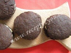 Шоколадное печенье с кремом фото 11