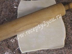 Хачапури с творогом из слоёного теста фото 4