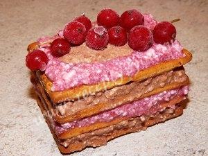 Пирожные из печенья без выпечки фото 8