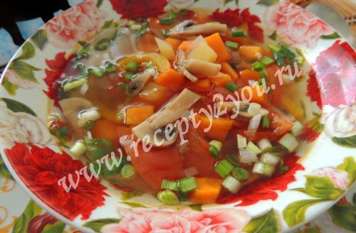 Овощной суп с тыквой