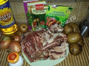Свиные ребра с картошкой в духовке фото 1