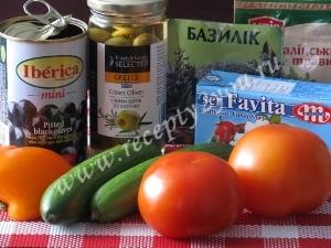 Салат с сыром фета фото 1