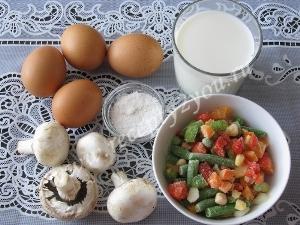 Омлет с овощами в духовке фото 1