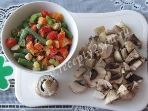 Омлет с овощами в духовке фото 3