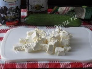 Салат с сыром фета фото 5