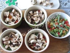 Омлет с овощами в духовке фото 5