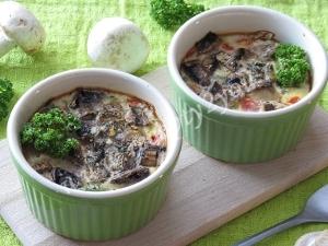 Омлет с овощами в духовке фото 8