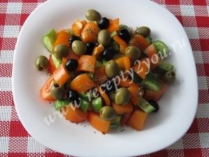 Салат с сыром фета фото 9