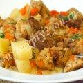 Мясо с картошкой в рукаве