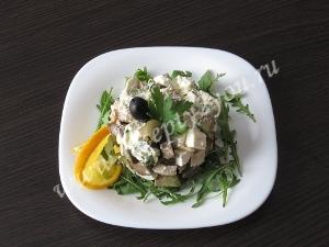 Салат с кальмарами и авокадо фото 10