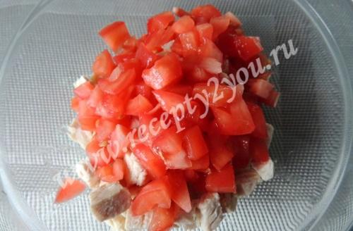 Салат в лодочках из авокадо фото 4