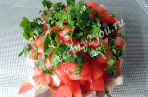 Салат в лодочках из авокадо фото 5